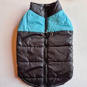NWOT Pet Dog Warm Coat Jacket Blue Black 4XL